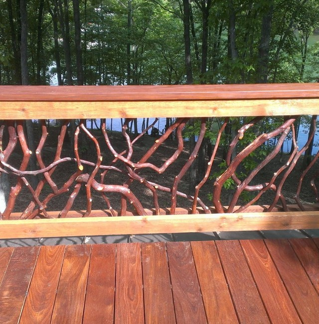 Natural Wood Deck Railings