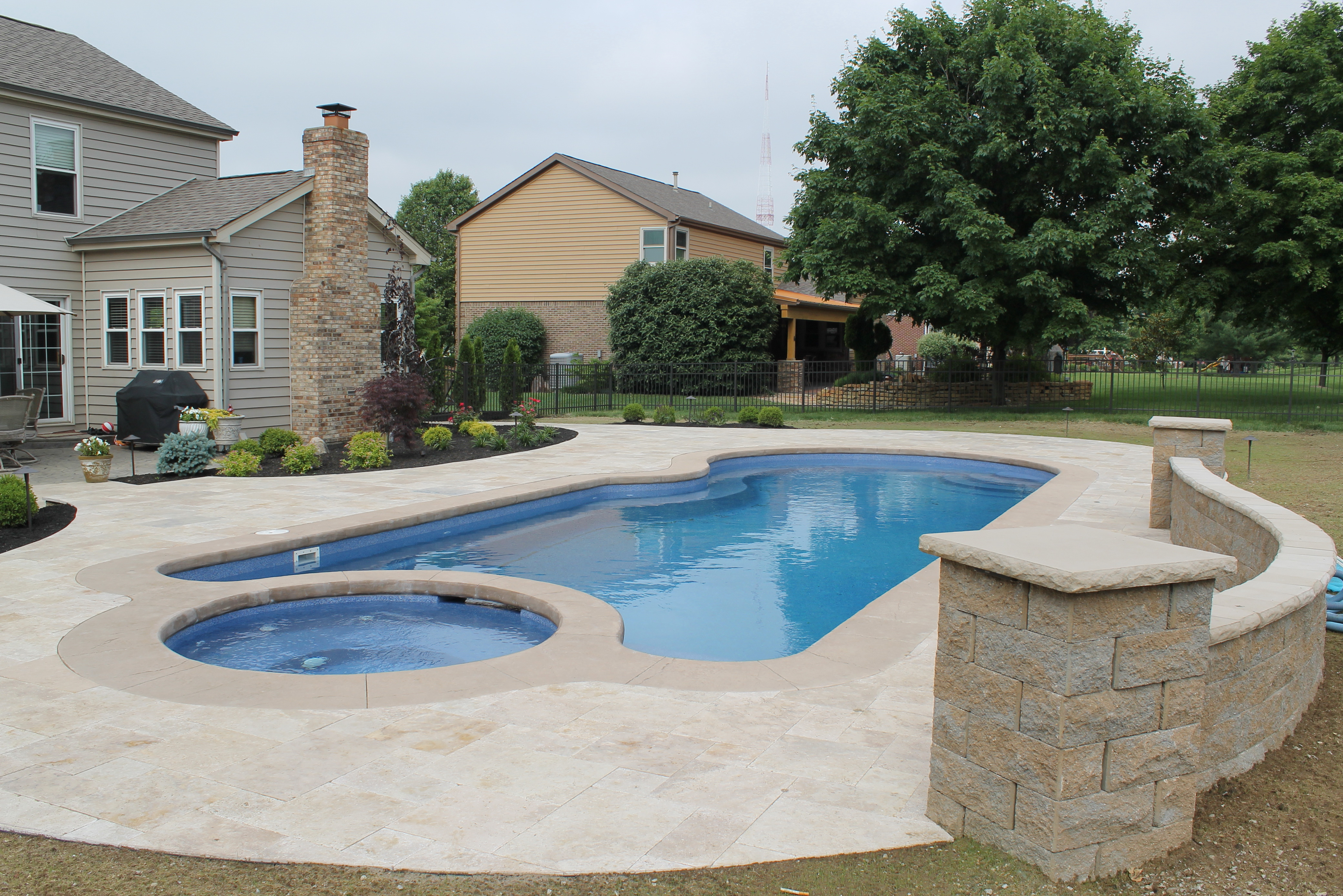 Noce Travertine Pool Deck