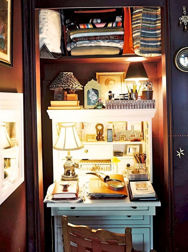 Office In A Closet Workspace