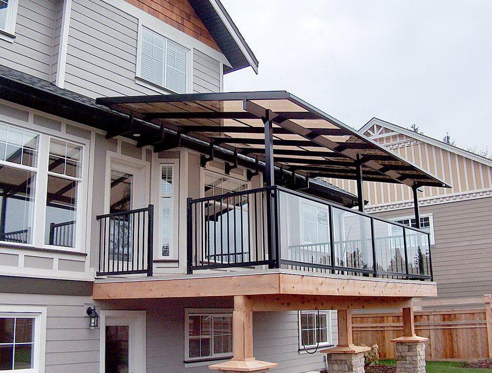 Patio deck cover ideas home design ideas for Balcony covering ideas