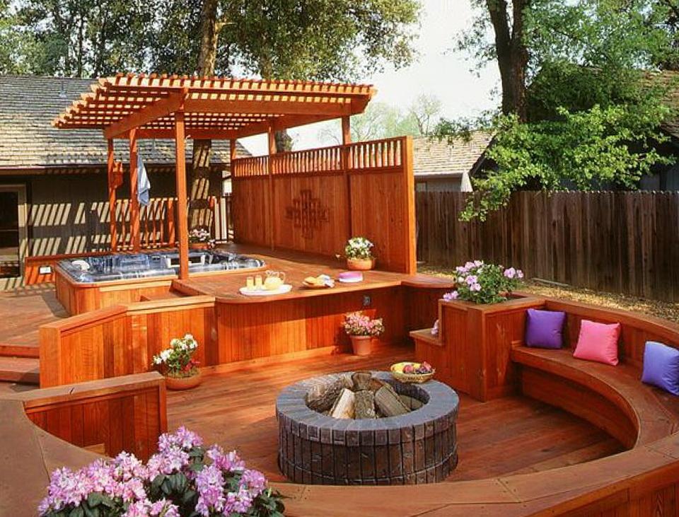 Patio Deck Designs Hot Tub