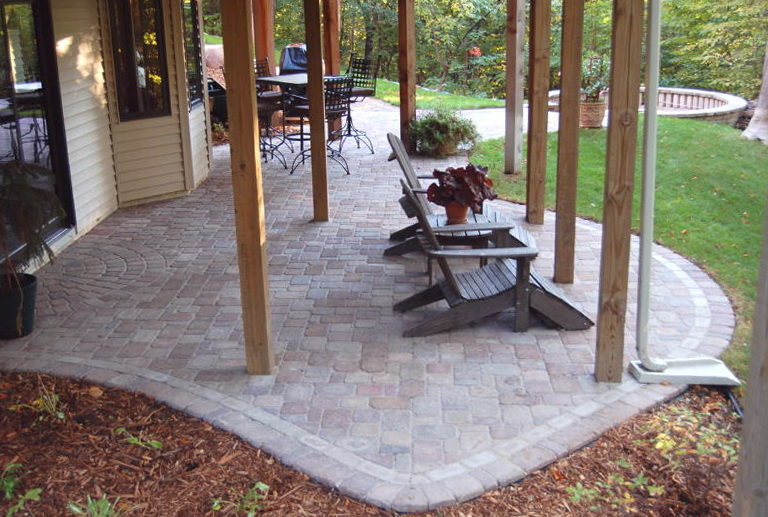 Paver Patio Under Deck Home Design Ideas