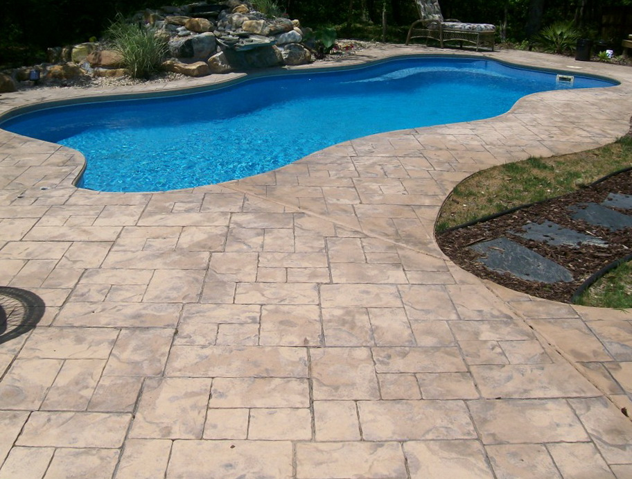 Pool deck ideas for inground pools home design ideas for In ground pool deck ideas