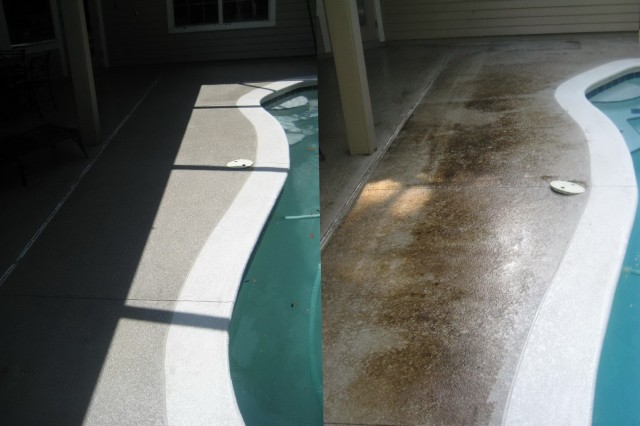 Pool Deck Paint Before And After