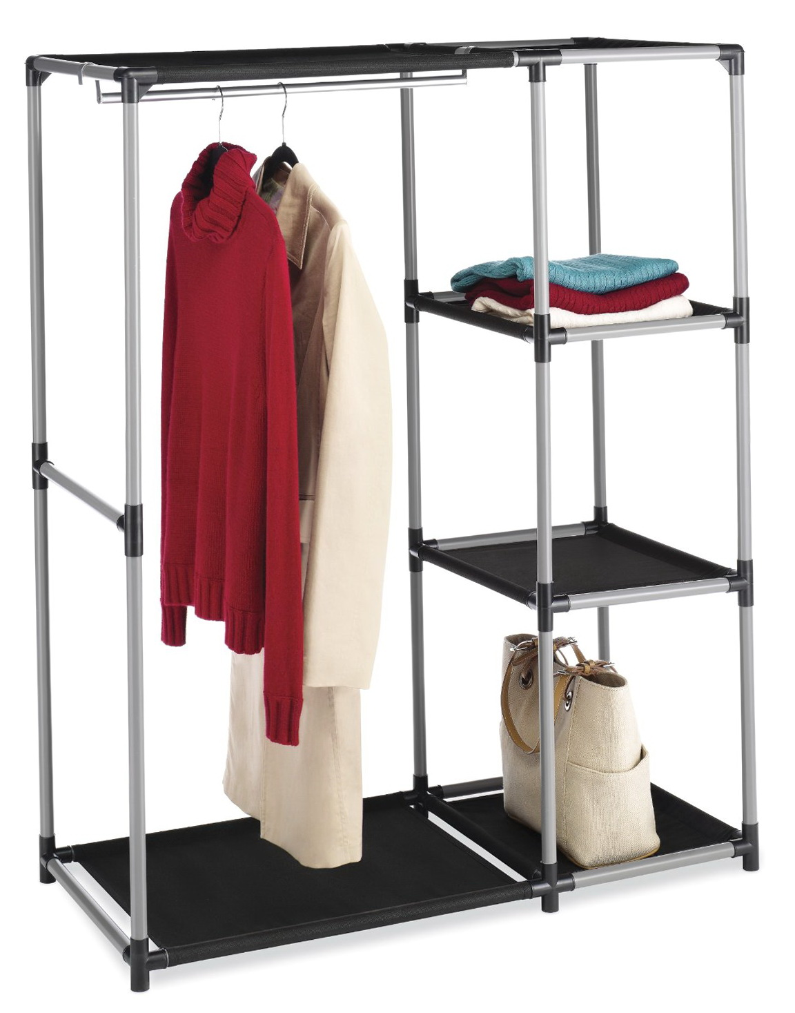 portable closet rack home depot home design ideas. Black Bedroom Furniture Sets. Home Design Ideas