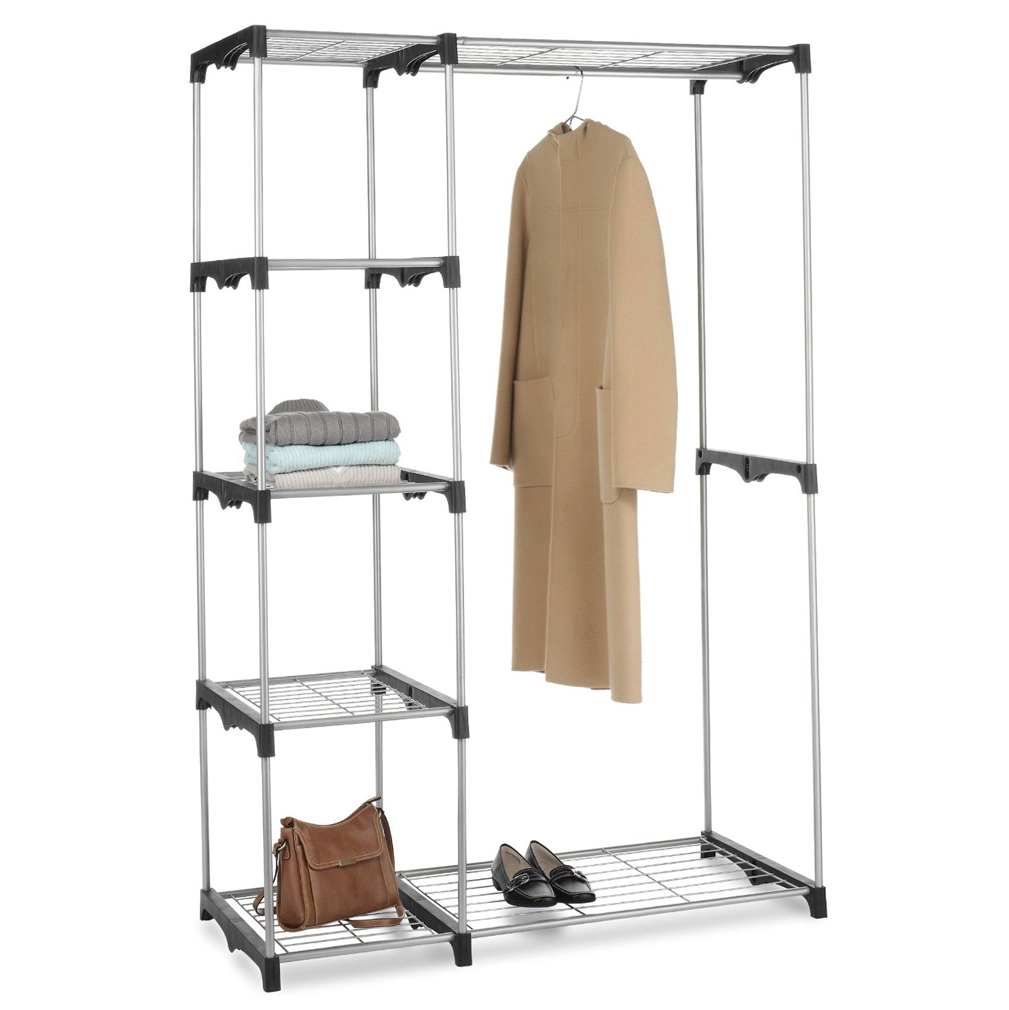 ideas image perfect simplified almosthomedogdaycare rack closet corner wardrobe com portable depot home at www standing fortune free