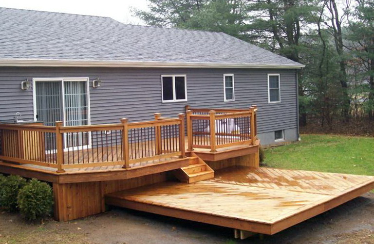 how to build a small deck for a mobile home