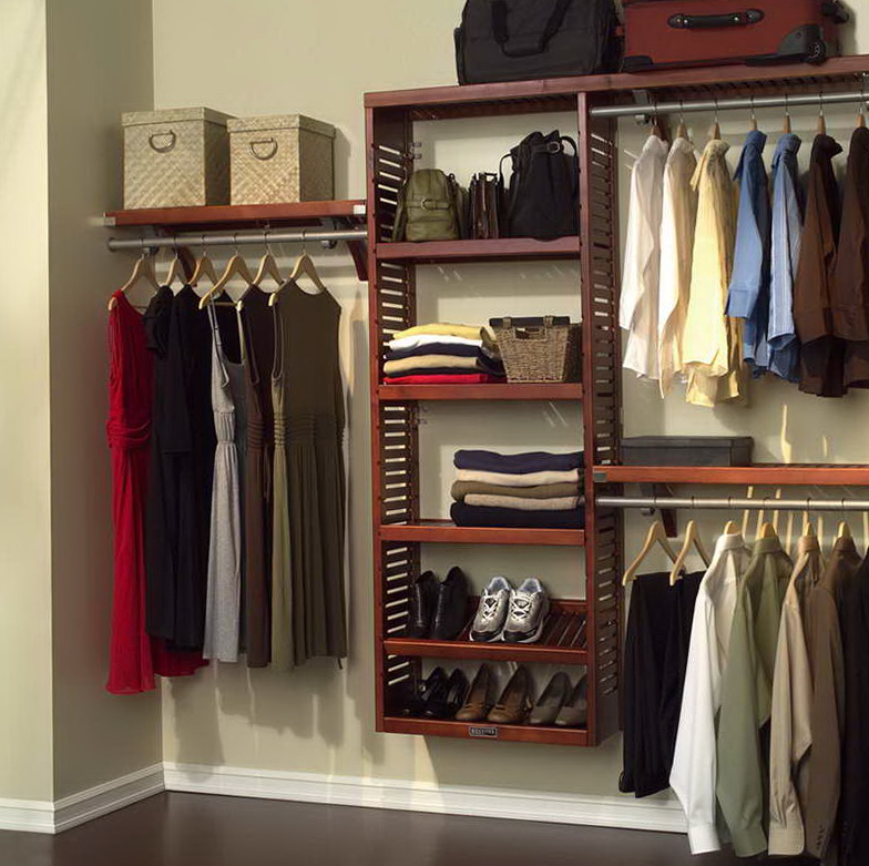 Do It Yourself Home Design: Reach In Wood Closet Organizers
