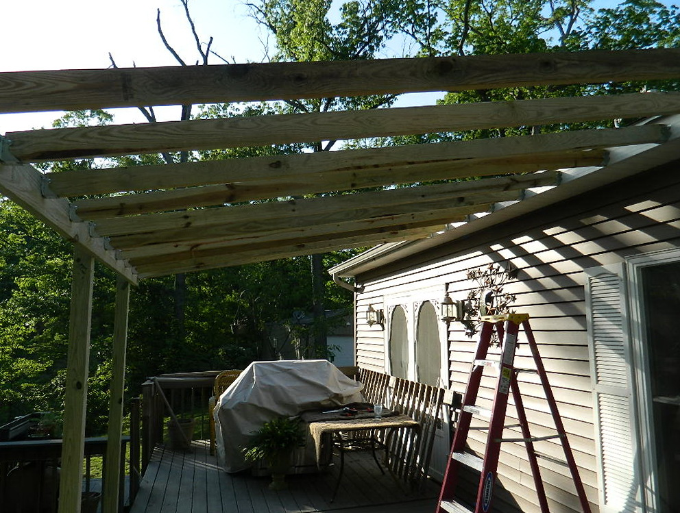 Roof deck framing plan home design ideas for Rooftop deck house plans