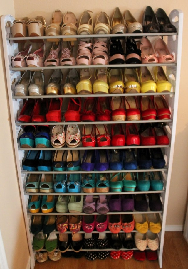 Slim Closet Door Shoe Racks