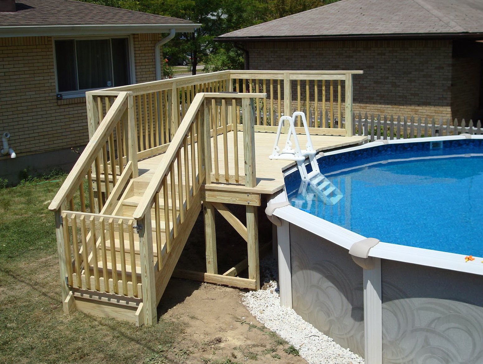 Small deck plans for above ground pools home design ideas for Small house deck designs
