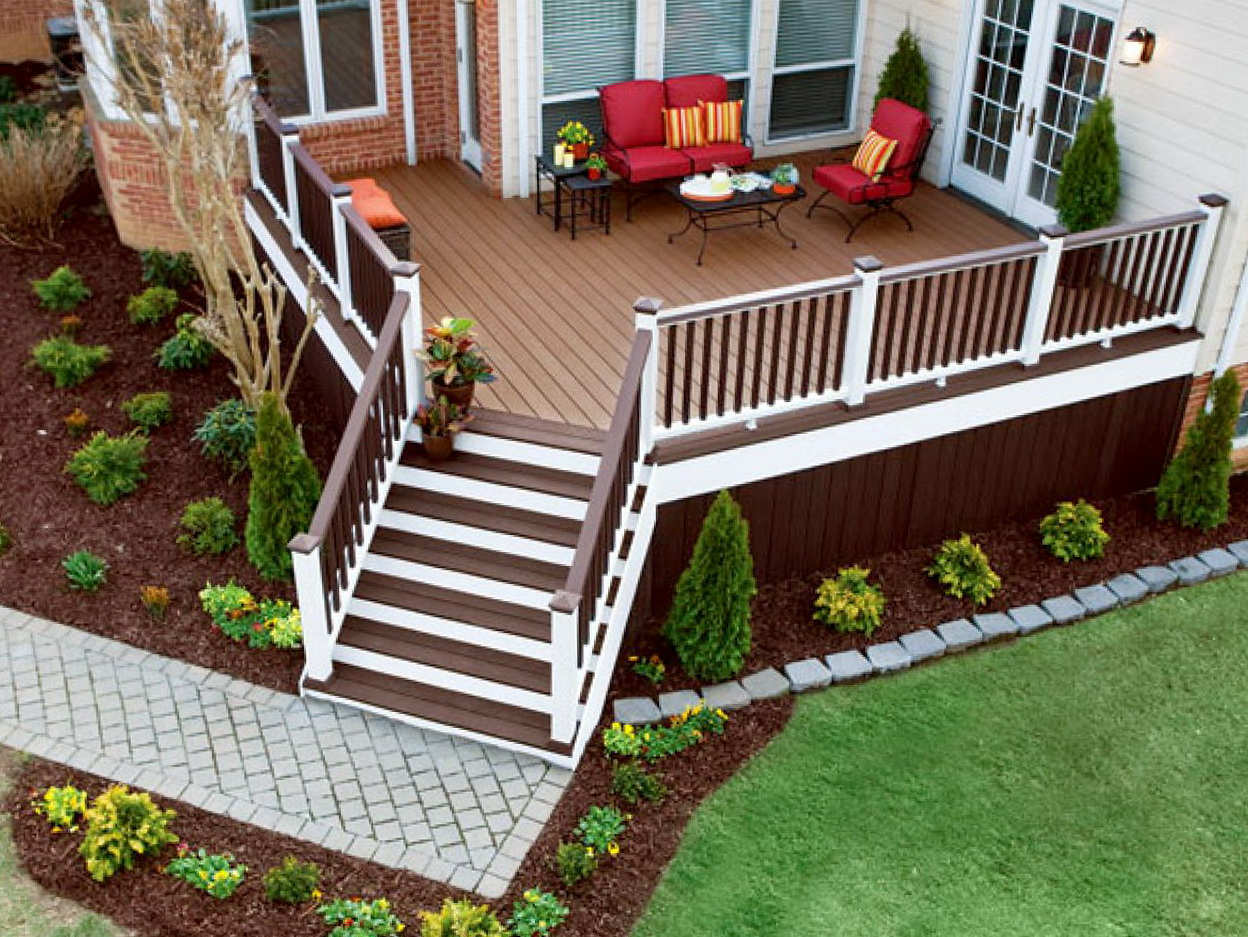 Small front deck plans home design ideas for Small house deck designs