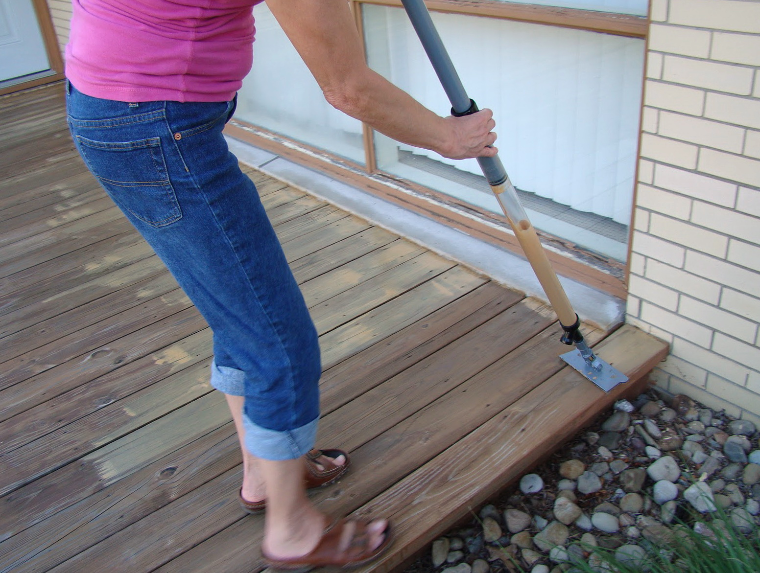 Staining A Deck With A Brush
