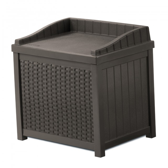 Suncast Resin Wicker Deck Box 22 Gallon