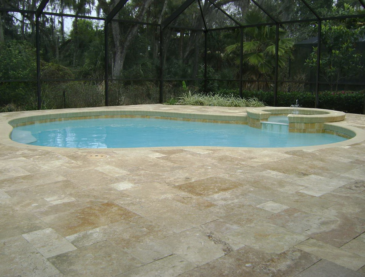 Travertine Pool Deck Pictures