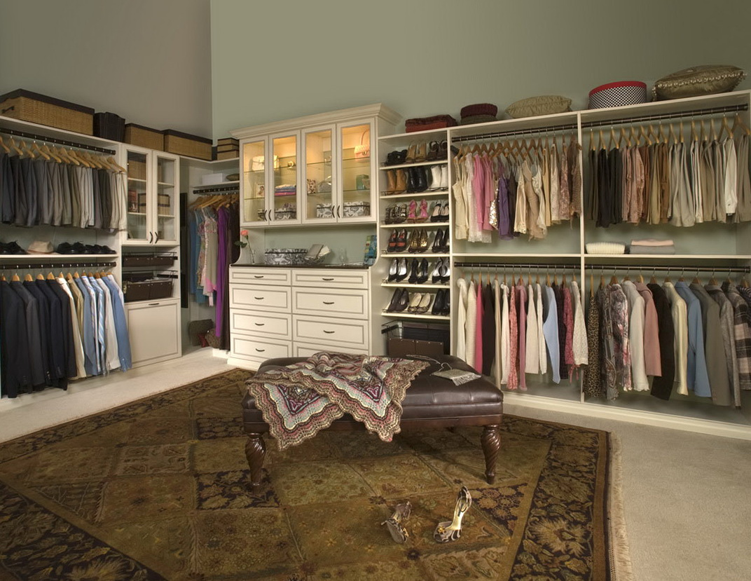 Walk in closet organizers menards home design ideas for Walk in closet organization