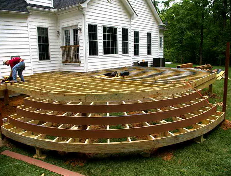 Wood deck plans free home design ideas for Free online deck design