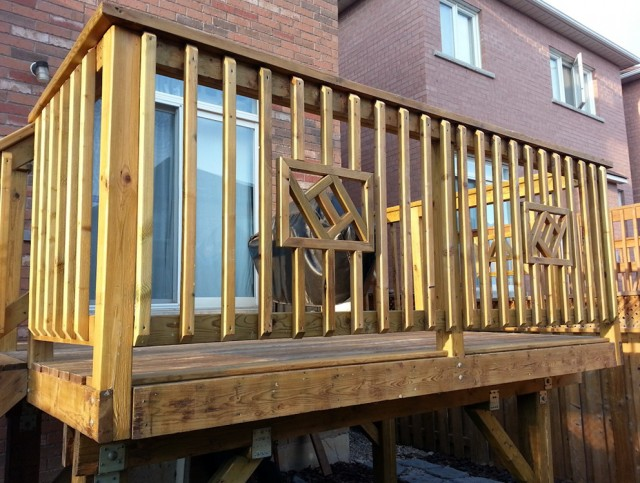 Wood Deck Railing Design Ideas
