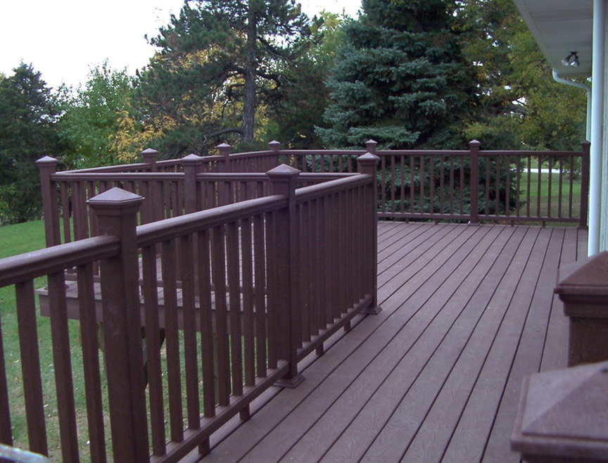 Wood Deck Railing Detail