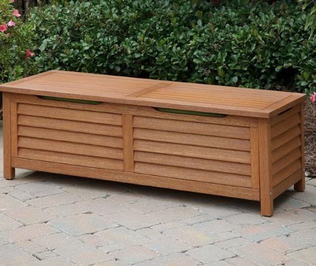 Wooden Deck Box Bench