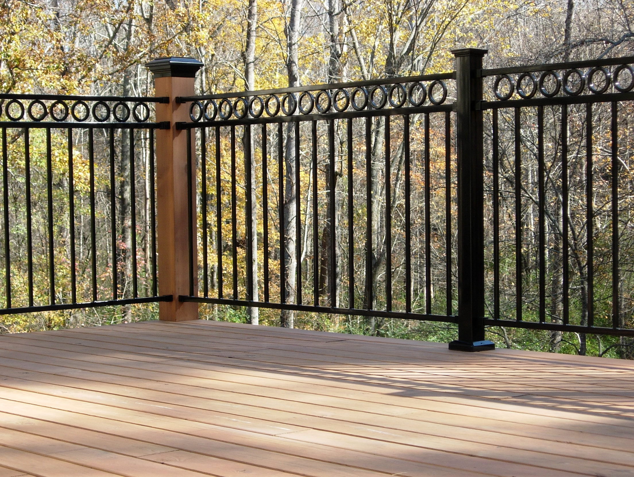 Wrought Iron Deck Railing Panels Home Design Ideas