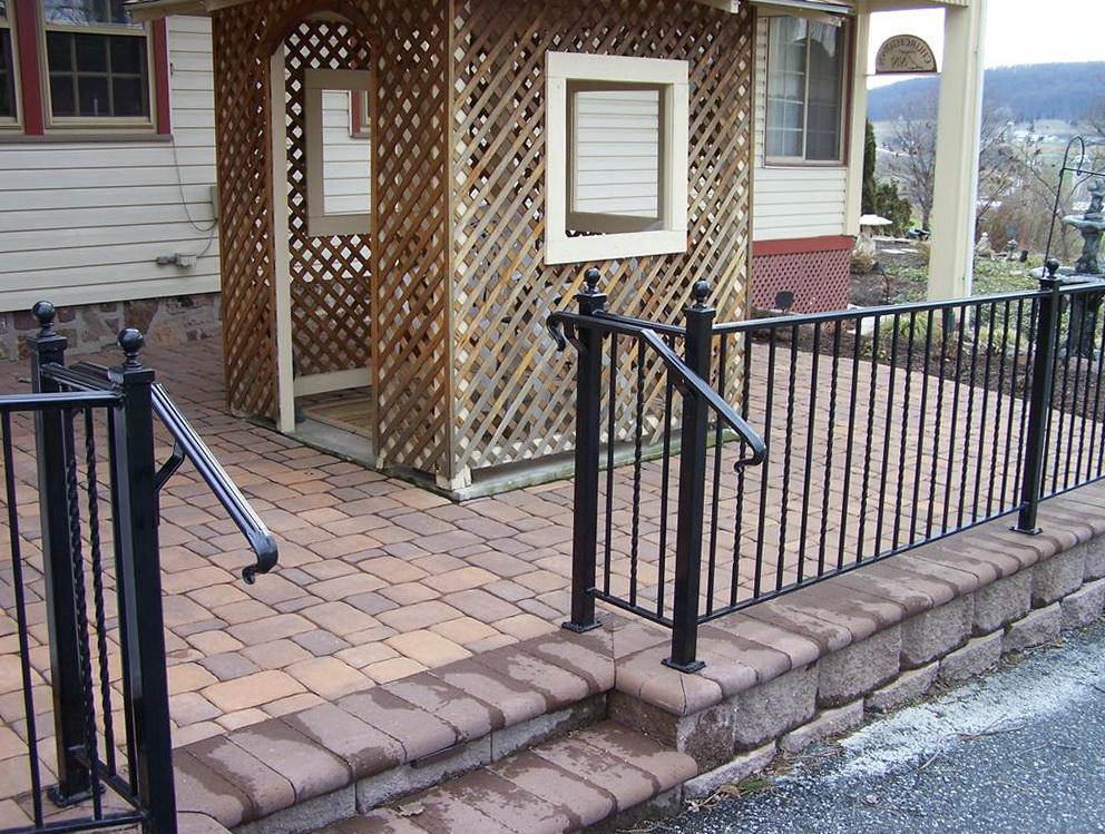 Wrought Iron Deck Railing Home Design Ideas