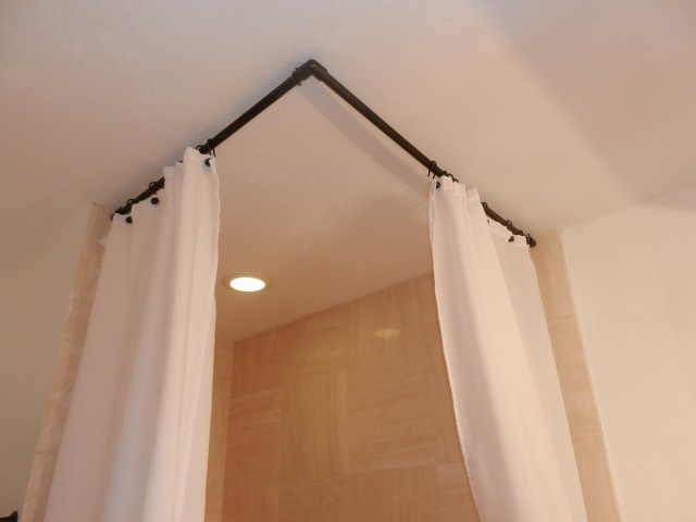 Curved Curtain Rod For Shower Stall | Home Design Ideas