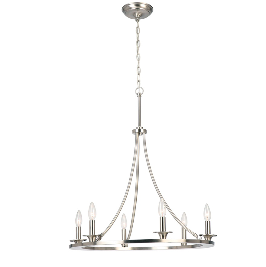 Allen Roth 6 Light Chandelier