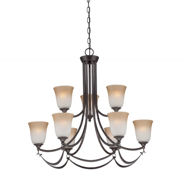 Allen Roth 9 Light Chandelier
