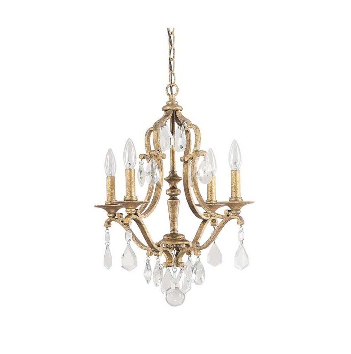 Antique Gold Crystal Chandelier