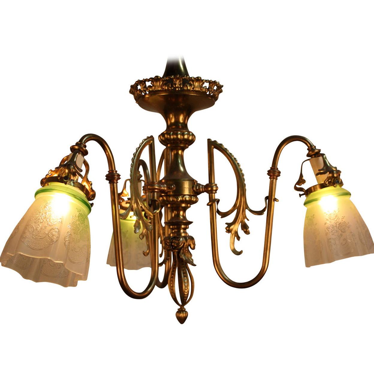 Art nouveau chandelier reproduction home design ideas for Chandelier art nouveau
