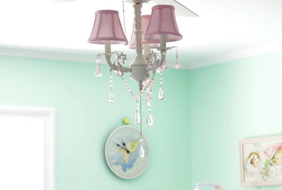Baby Room Chandelier Fan