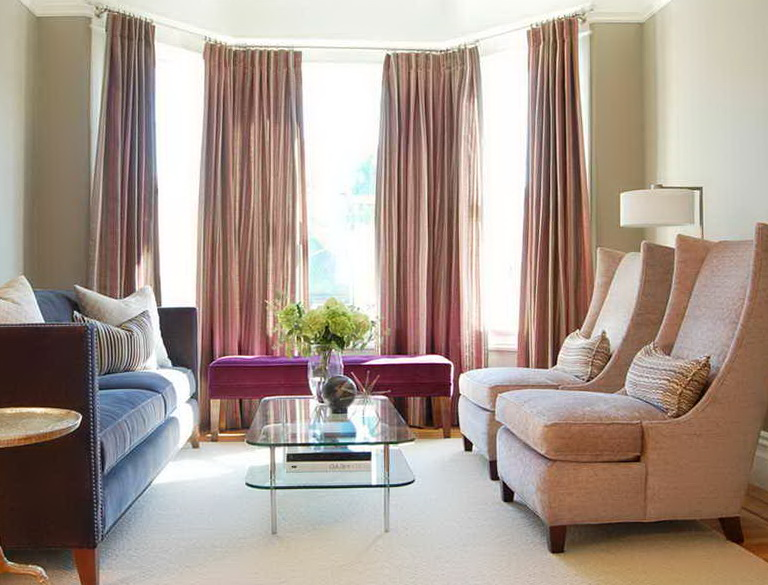 Bay Window Curtain Rod Lowes Home Design Ideas