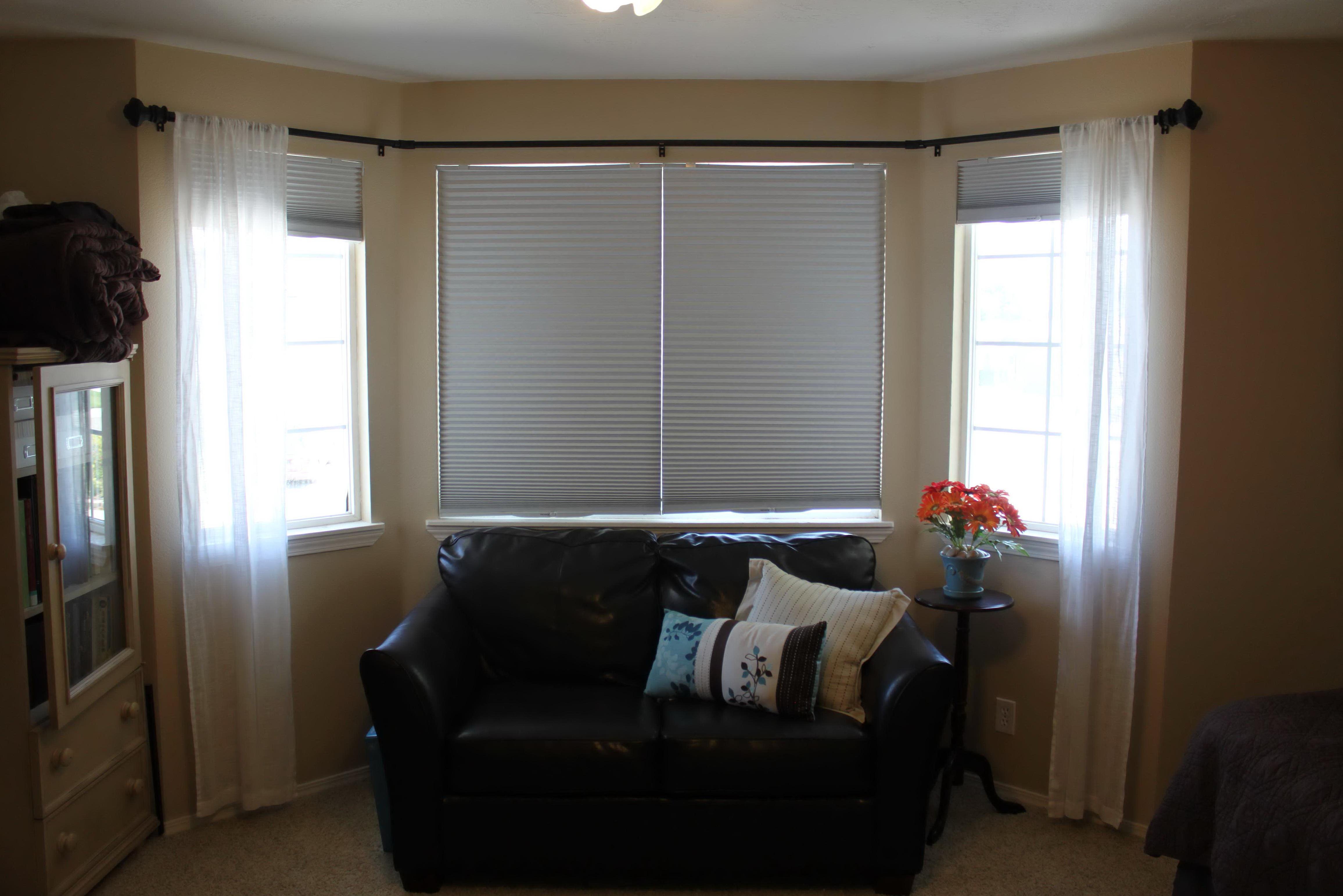 Bay Window Curtain Rods Diy
