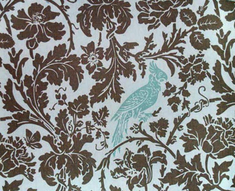 Bird Fabric For Curtains
