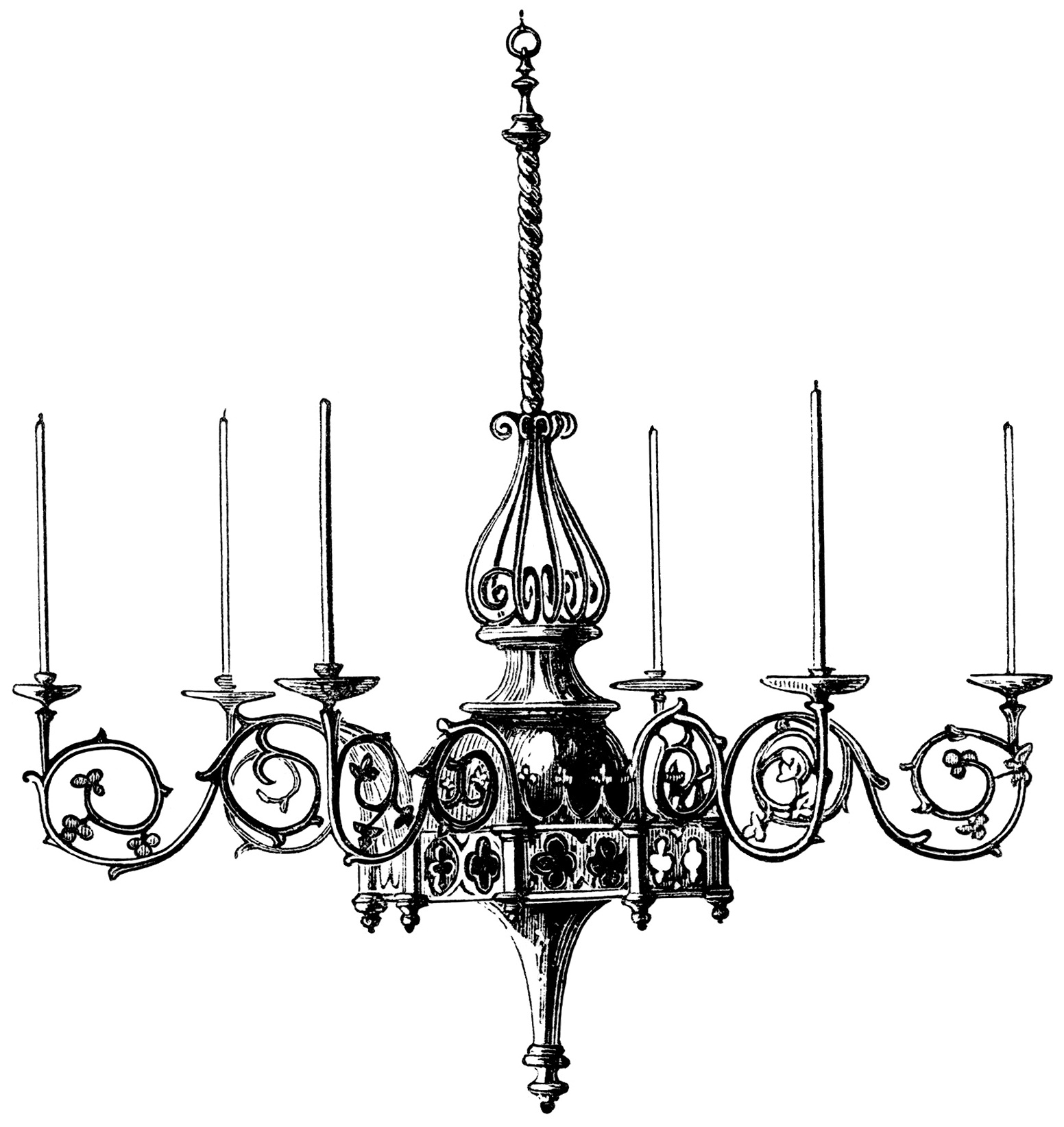 Black And White Chandelier Painting