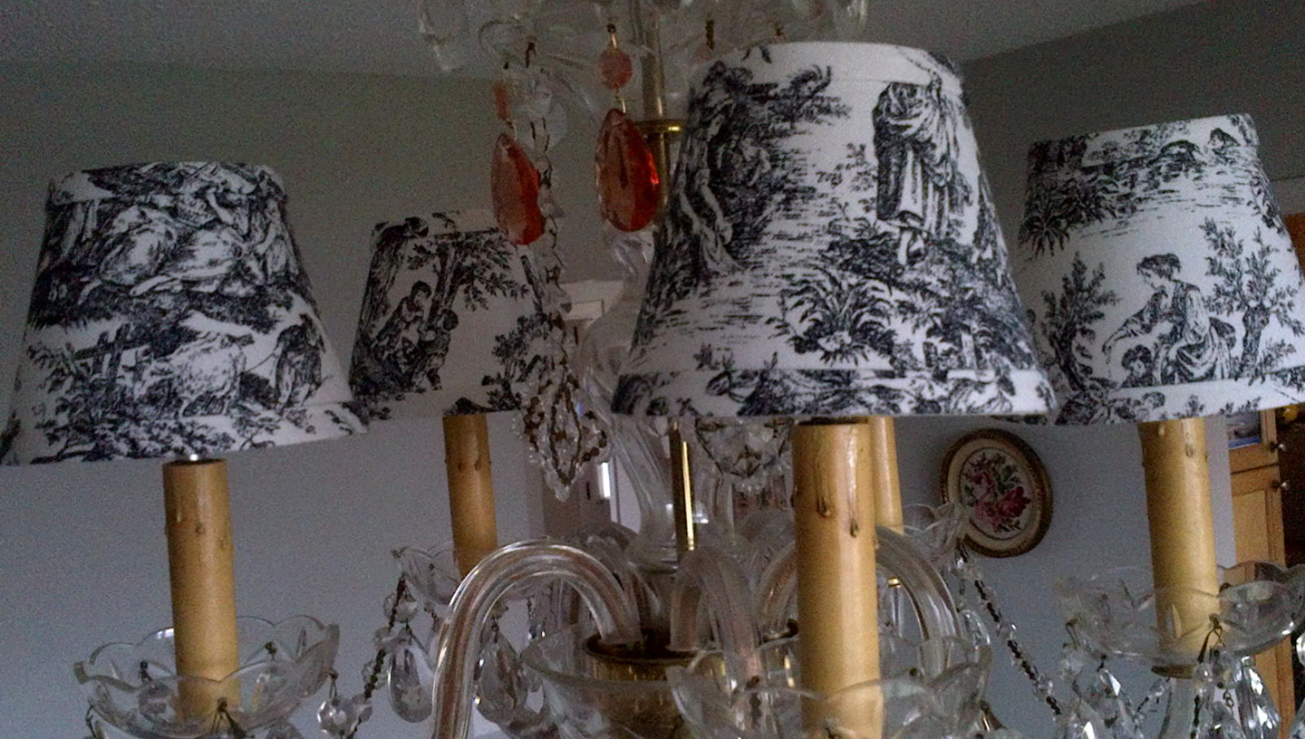 Black And White Chandelier Shades