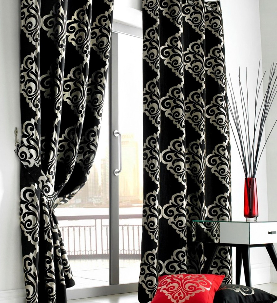Black And White Curtains For Living Room