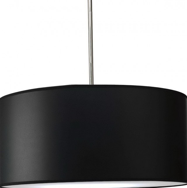Black Drum Pendant Chandelier