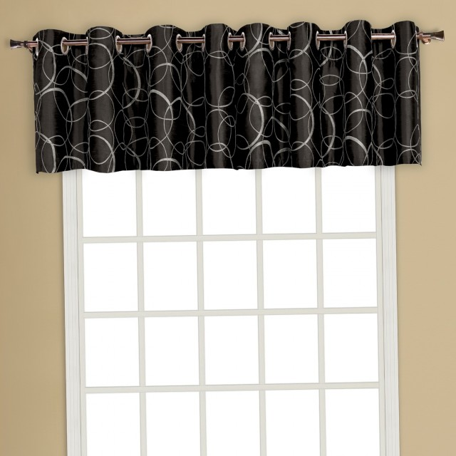 Black Kitchen Curtains And Valances