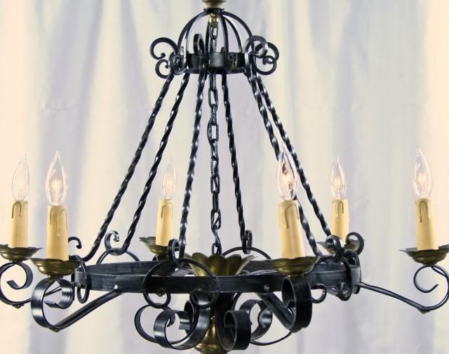 Black Wrought Iron Chandelier Lighting
