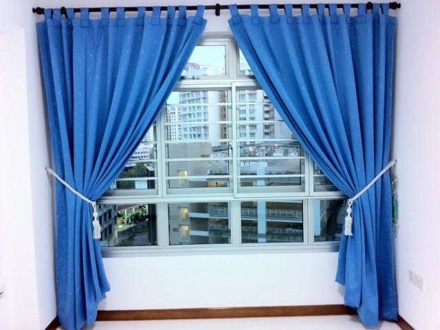 Blue Room Darkening Curtains