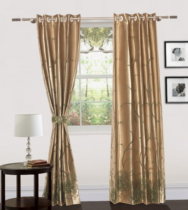 Brown Door Panel Curtains