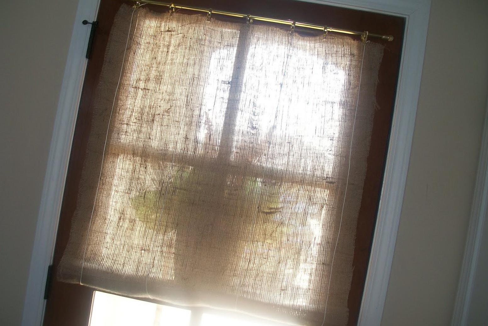Burlap No Sew Curtains