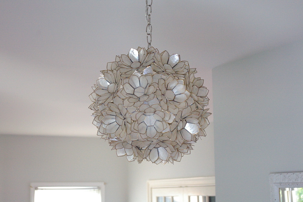 Capiz lotus flower chandelier home design ideas capiz lotus flower chandelier aloadofball Images