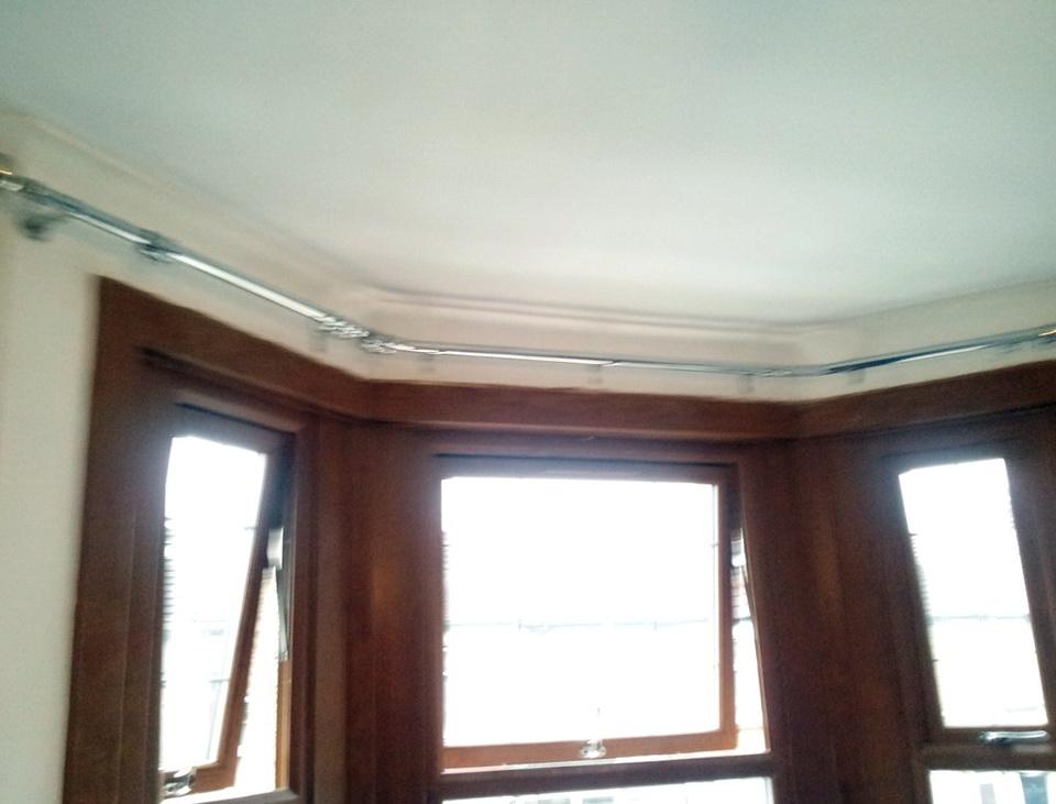 Ceiling Curtain Track Bay Window Home Design Ideas