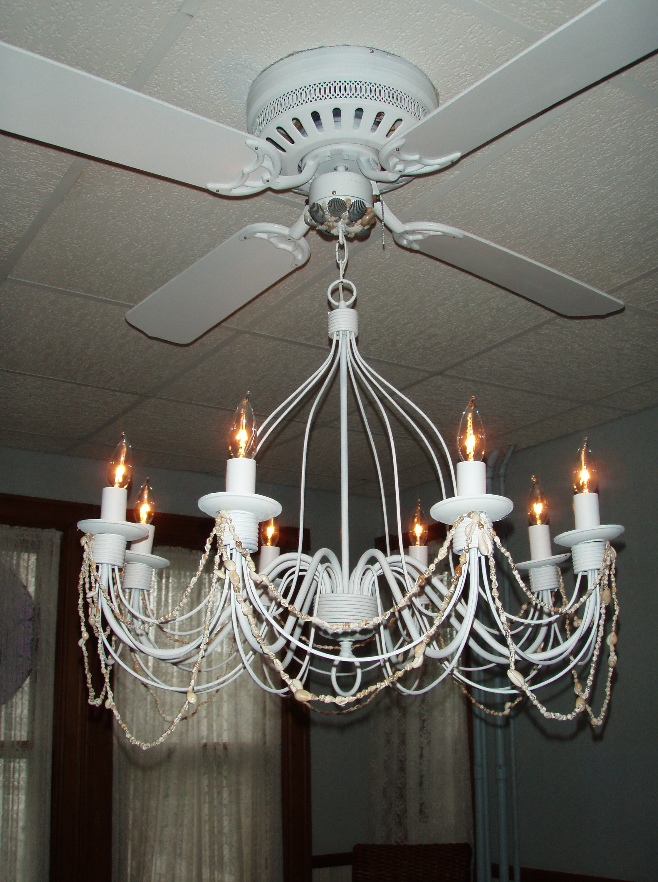 Ceiling fans with chandelier light kit home design ideas - Girl ceiling fans with chandelier ...