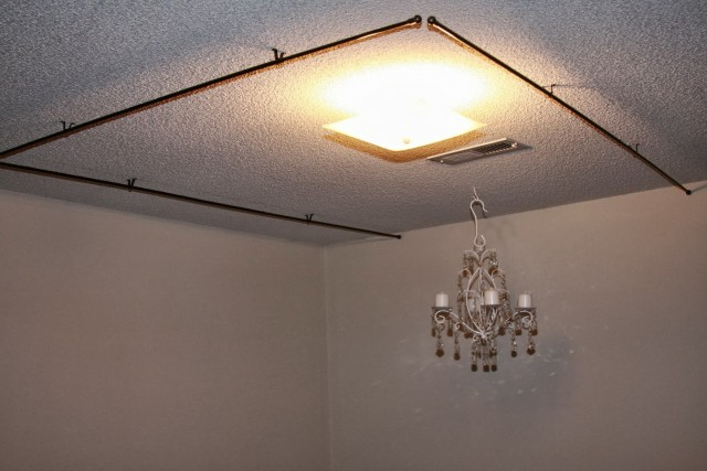Ceiling Mount Curtain Rods Canopy Bed