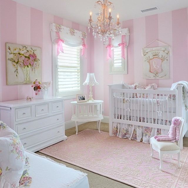 Chandelier Baby Girl Room