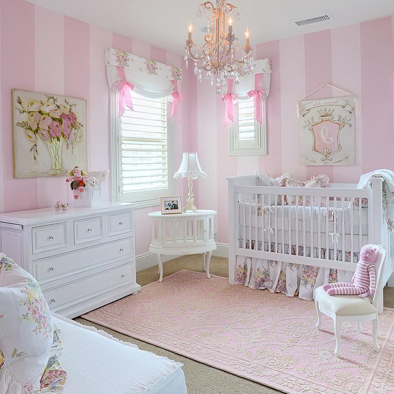 Chandelier Baby Girl Room